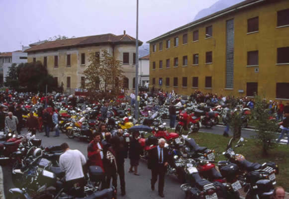 Moto Guzzi parking and factory
